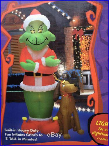 BRAND NEW Christmas Inflatable 8ft Grinch And Maxx
