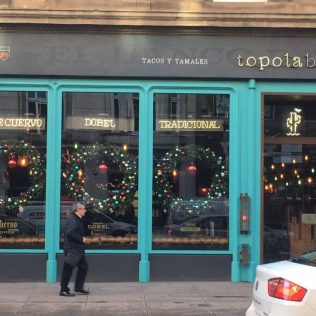 Earth Angels used our double sided commercial luxury wreaths to create a stunning window display in Leeds.