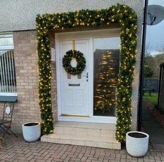 Christmas Garland round front door