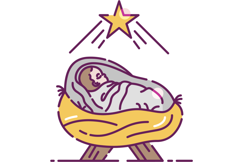 medium resolution of baby jesus in a manger clip art free