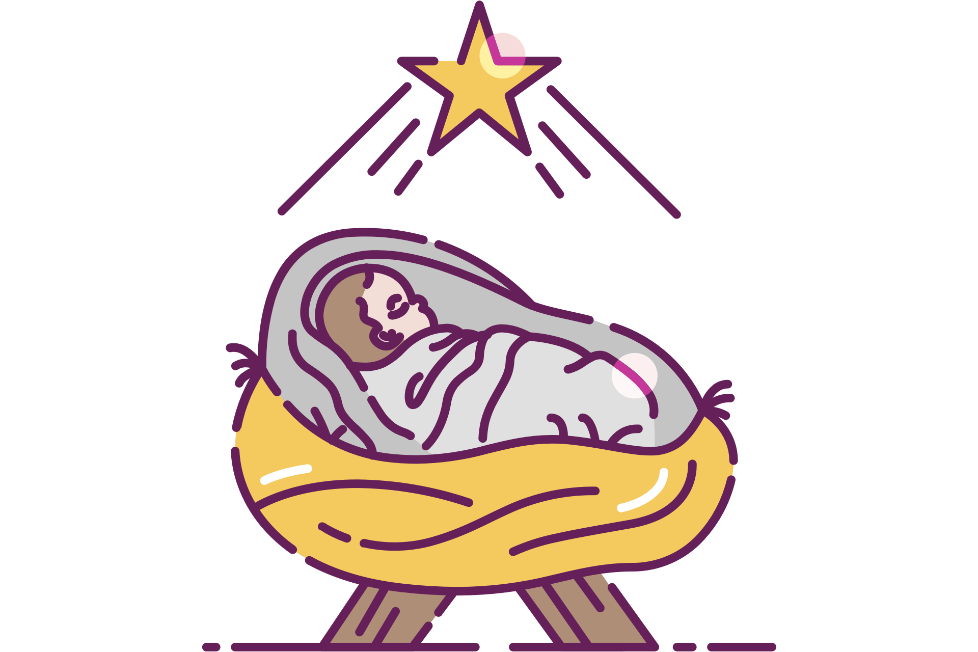 hight resolution of baby jesus in a manger clip art free