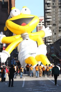 Louie Lightning Bug balloon at the 2013 Ameren Missouri Thanksgiving Day Parade.