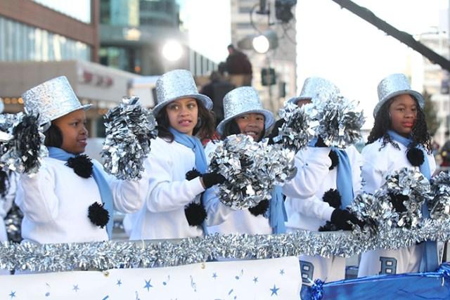 Poms at the 2013 Ameren Missouri Thanksgiving Day Parade.