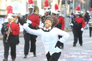 Marching band at the 2013 Ameren Missouri Thanksgiving Day Parade.