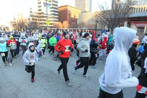 A picture of runners during the 2013 Hungry Turkey 5k