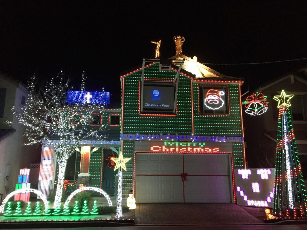 Christmas Lights Projector House