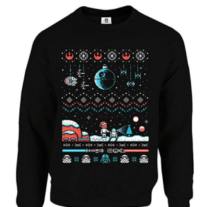 Inspired Star Wars Spray at-at Christmas Jumper