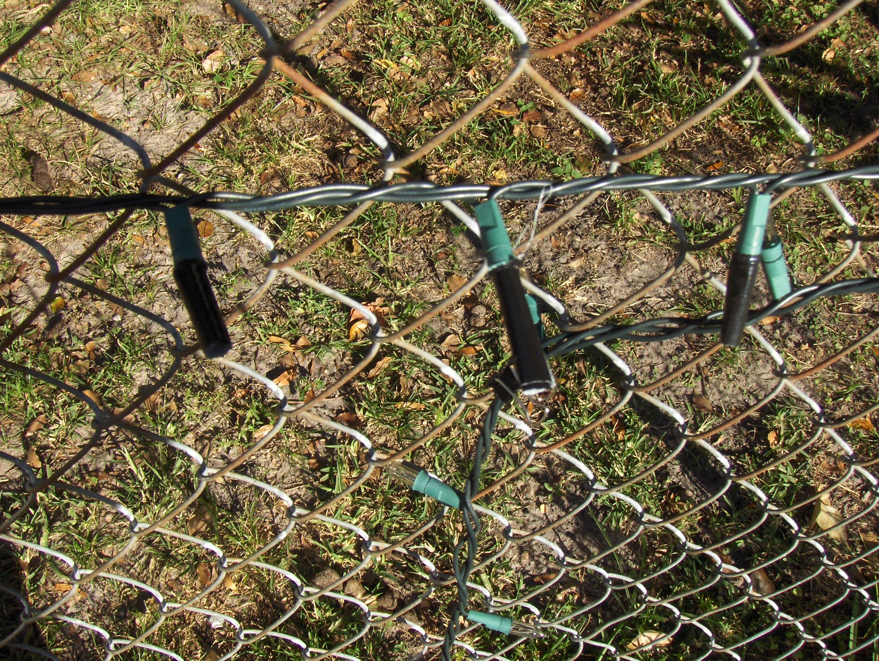 smart idea chain link fence lighting ideas