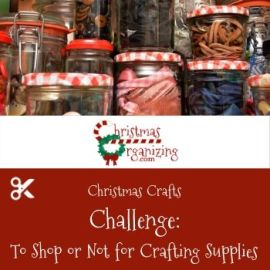 To Shop or Not for Crafting Supplies