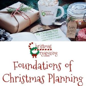 Foundations of Christmas Planning