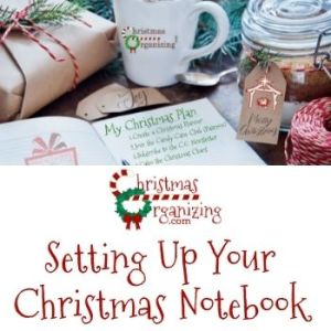 Setting Up Your Christmas Notebook