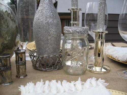 Christmas dinner table decoration idea