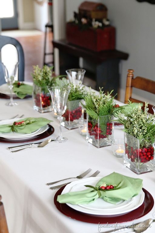 Christmas Tablescape (Perfect for Last Minute!)