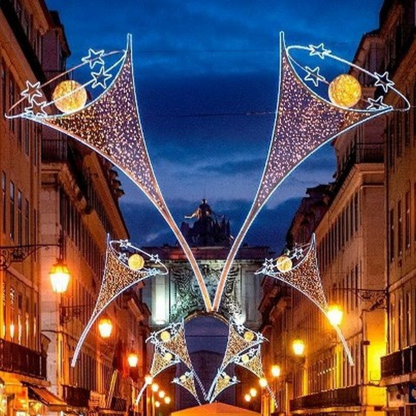 Christmas decorations – Augusta Street, Lisbon – Portugal