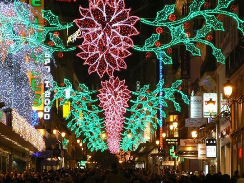 Christmas lights in Madrid – can't wait for mom and dad to see this