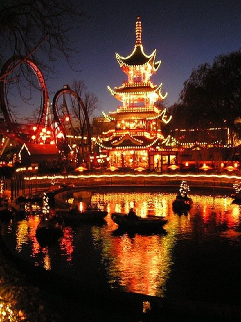 Tivoli gardens – amazing at night, the second oldest amusement park in the world