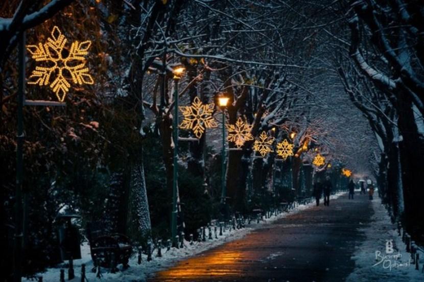 Christmas decorations in Bucharest, Romania