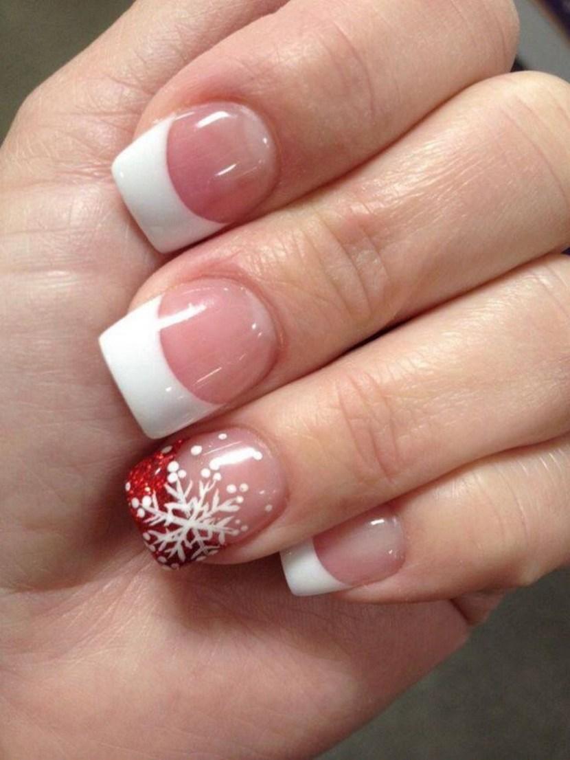festive christmas acrylic nail