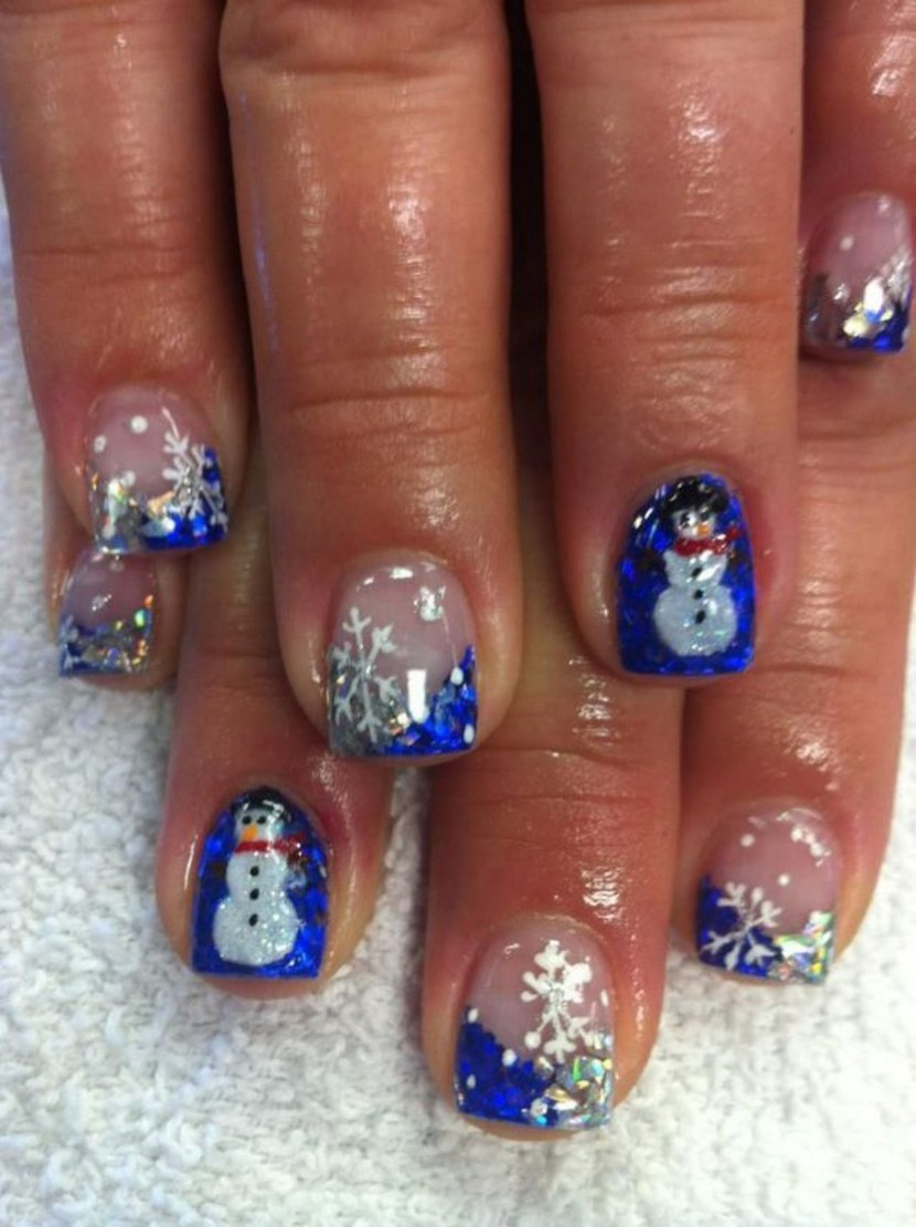 30 festive christmas acrylic nail designs christmas photos for Acrylic nail decoration