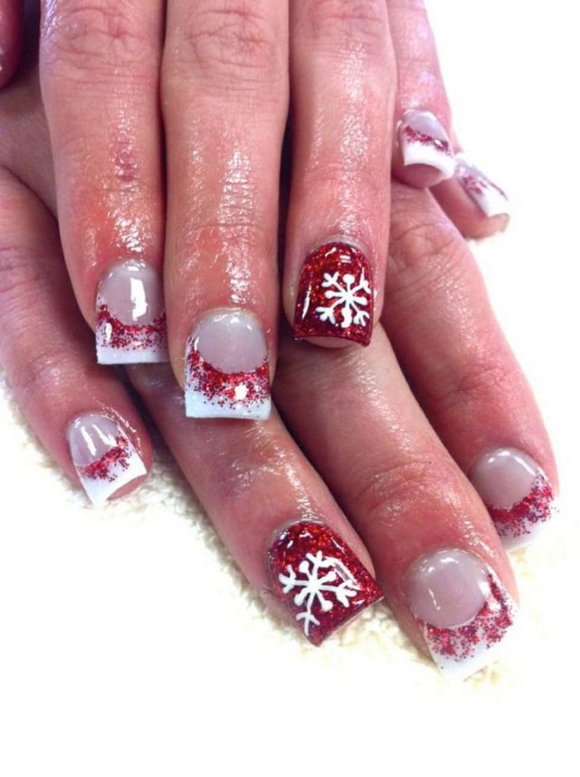 Christmas Acrylic Nail Art 2013