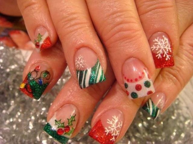 Acrylic Nails Designs For Christmas Papillon Day Spa