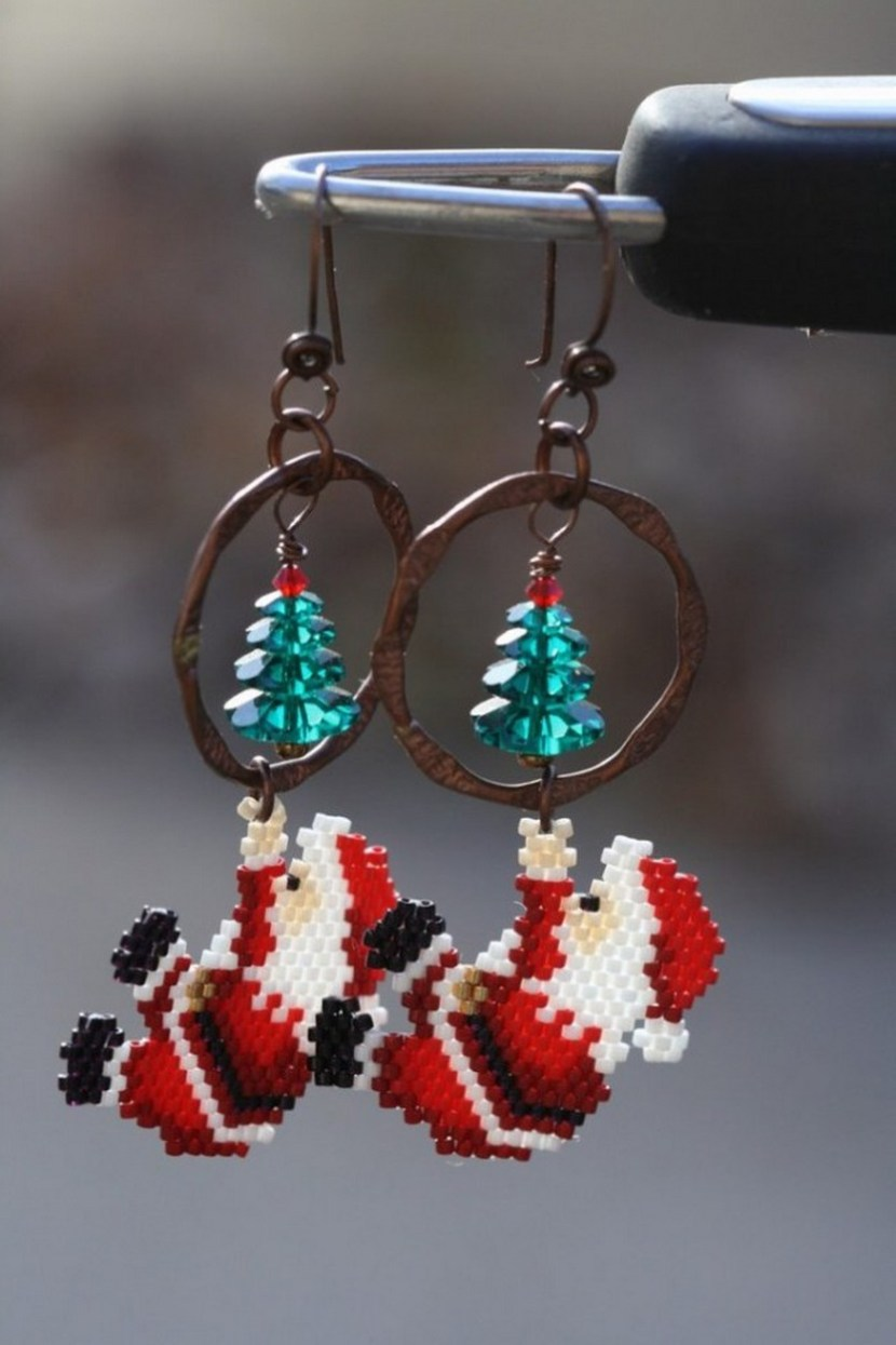 Santa Claus Christmas earrings