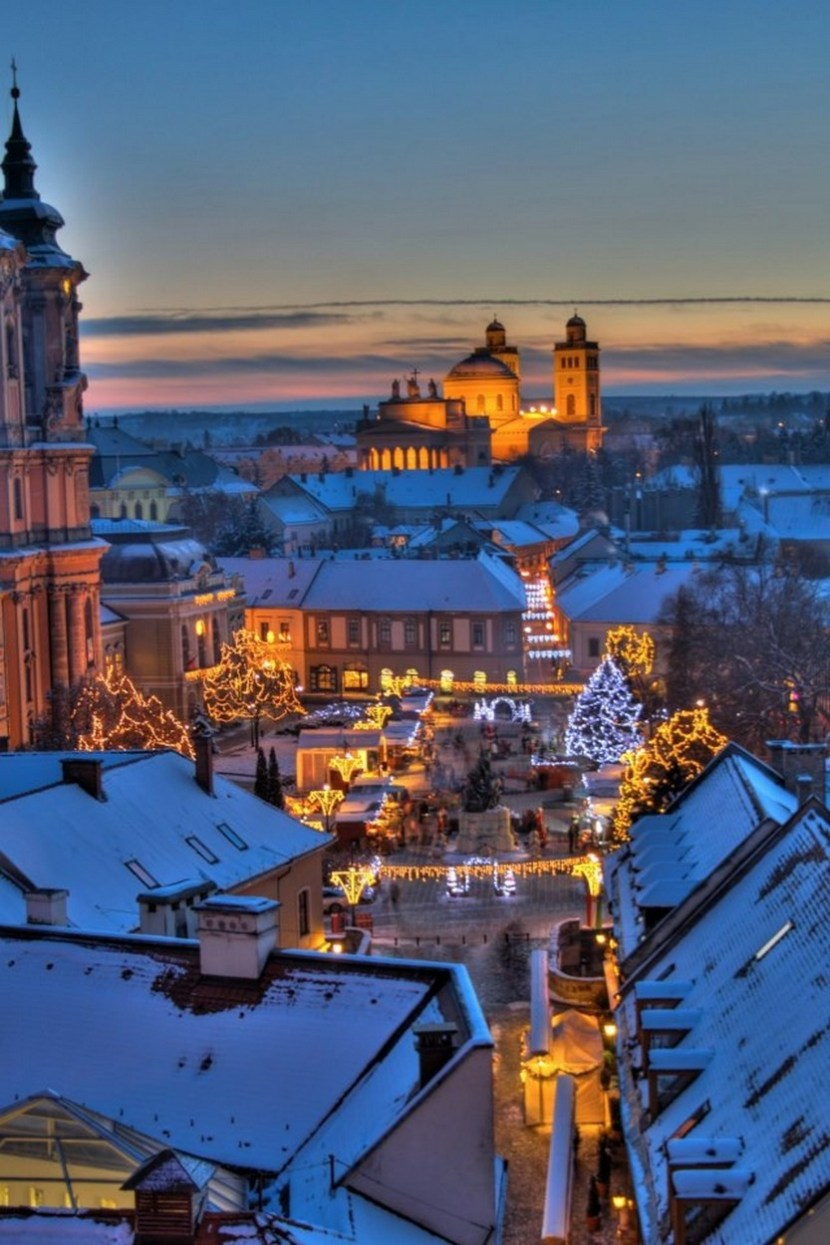 Christmas Fair in Eger, Hungary