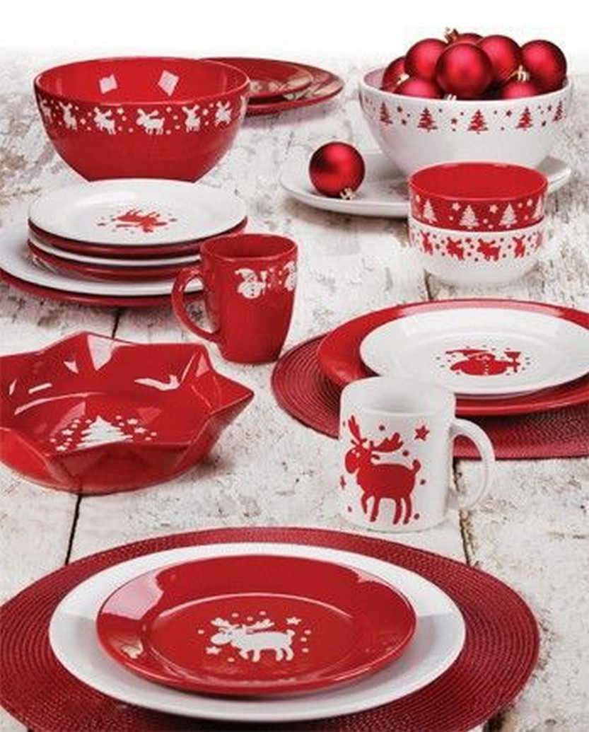 Waechtersbach Dinnerware featuring Red Christmas Square Mugs and Bold Solid Color Plates and & 57 Beautiful Christmas Dinnerware Sets \u2013 Christmas Photos