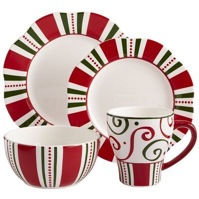 Christmas Stripes Dinnerware from Pier One