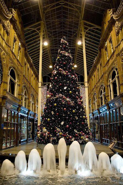 Christmas in Victoria Quarter, Leeds, England