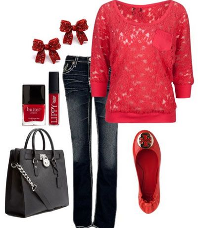 Cute Christmas Outfit Ideas – Winter Reds
