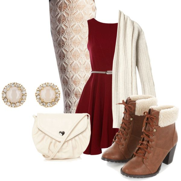 Cute & Elegant Christmas Outfit by emmabubble on Polyvore