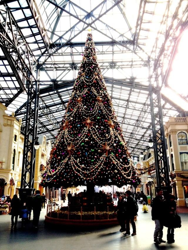 Japan. Tokyo disney land. Christmas tree