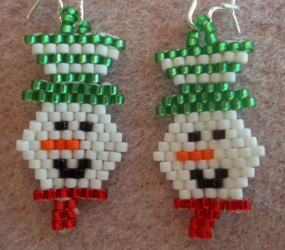 PDF Smiling Snowman Brick Stitch Bead Weaving Tutorial (INSTANT DOWNLOAD) – $2.50 on Etsy
