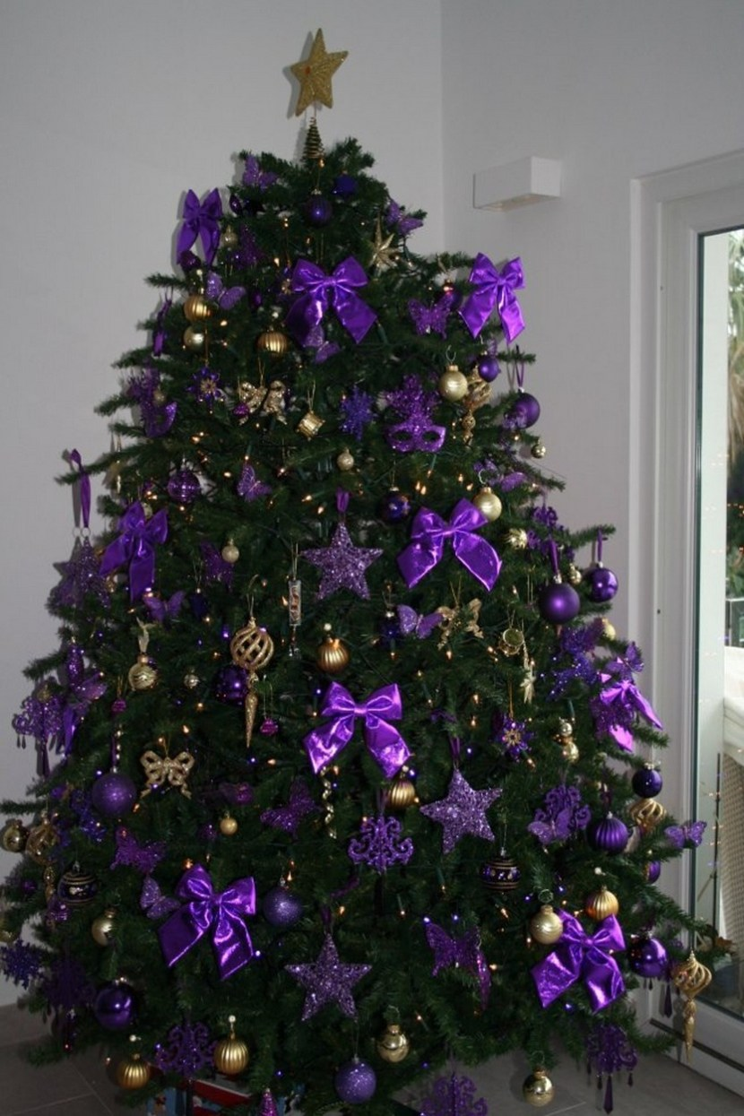 Plum Christmas Tree Decorations