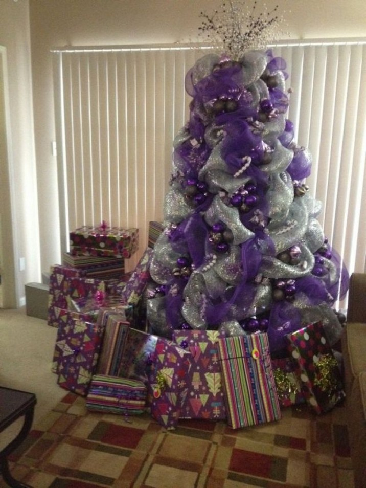 purple and silver christmas tree decorating ideas lovely saveenlarge source modern ideas for christmas tree decoration with purple and pink