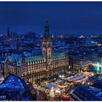 Christmas lights in Hamburg, Germany