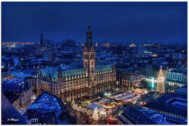 Christmas lights in Hamburg, Germany