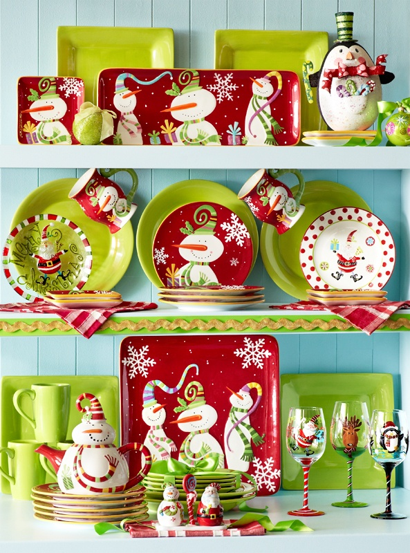 The snowmen on Pier 1 Jolly Holiday Serveware will make your heart melt