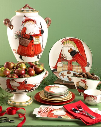 Vietri Italian dinnerware, hand painted in Tuscany, can go in oven and dishwasher! Adorable!