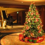 Beautifully decorated Christmas tree