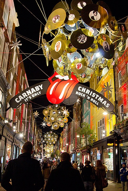"Carnaby Street, London, Christmas – ""It's Only Rock 'n Roll"""
