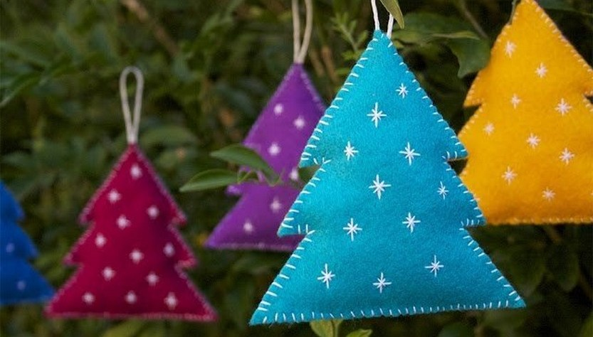 DIY felt Christmas decorations