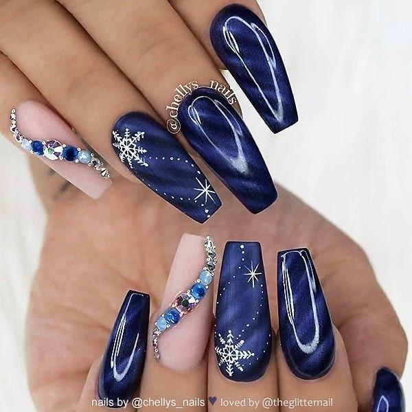 More Christmas acrylic nail designs \u2013 Christmas Photos