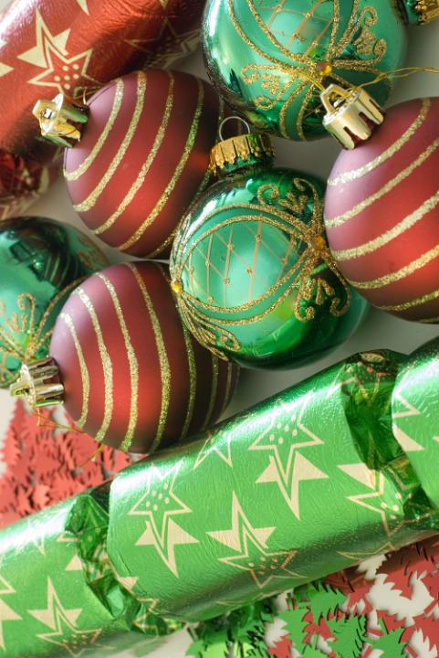 Photo Of Green And Red Festive Decorations Free