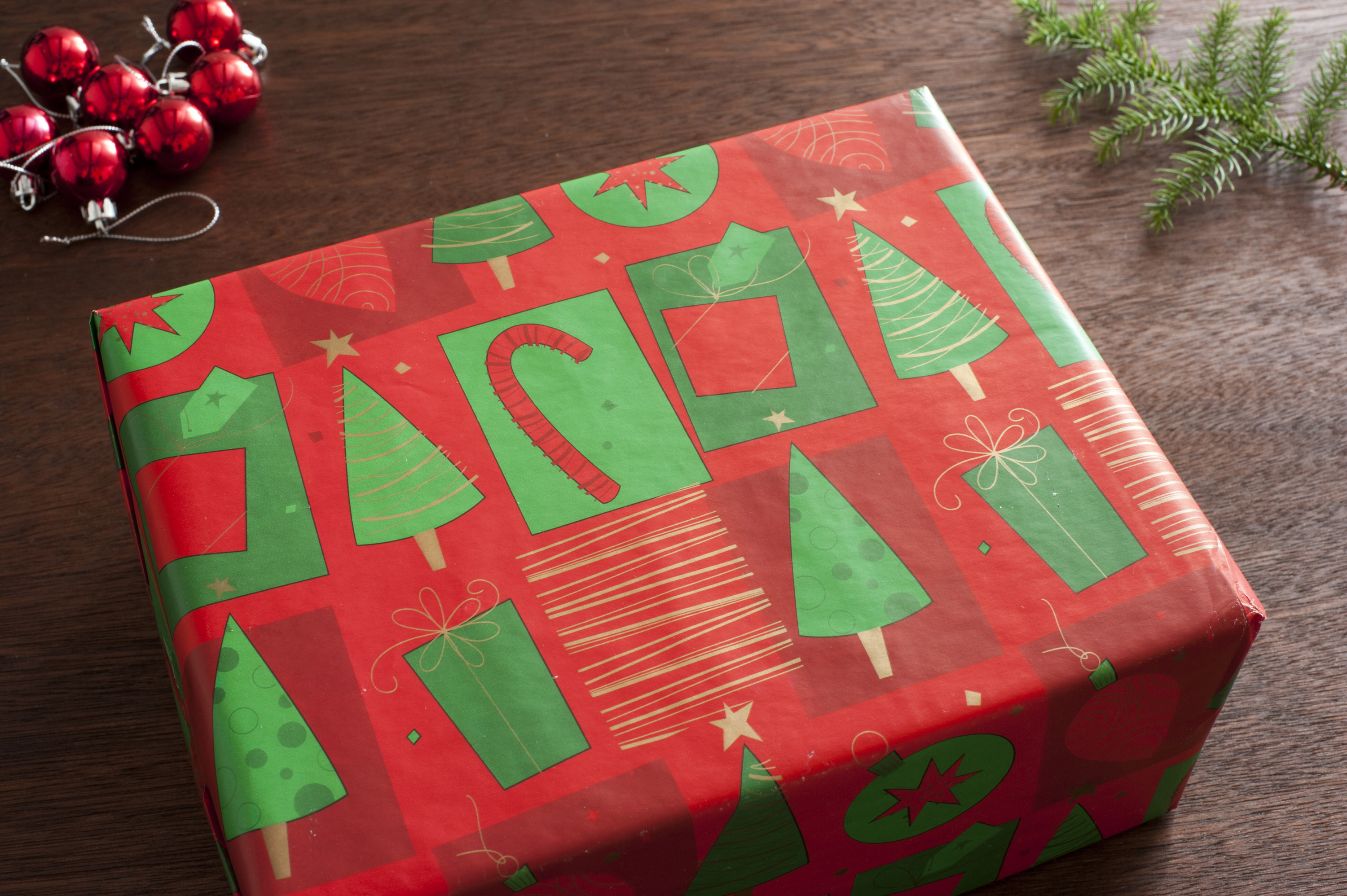 Photo Of Beautifully Wrapped Christmas Present Free