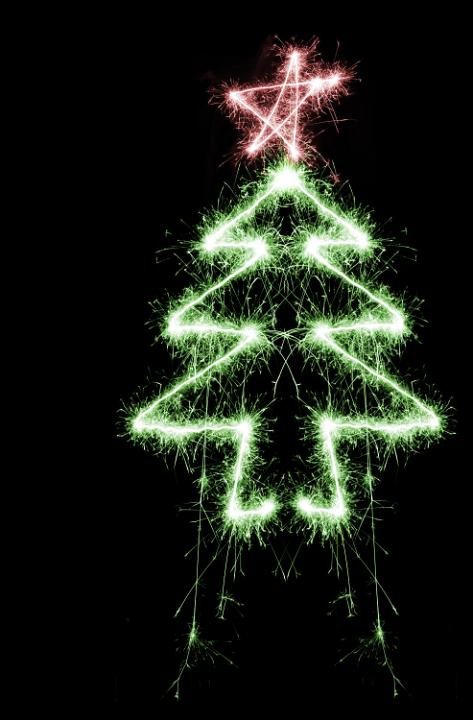 Photo of sparkling tree  Free christmas images