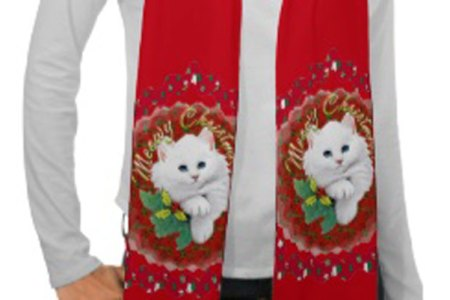 Cat Lovers Christmas Scarves