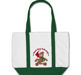 I Believe In Santa Christmas Tote Bags