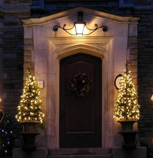 //www.dreamstime.com/royalty-free-stock-images-front-door-holiday-lights-shrubbery-image40081279